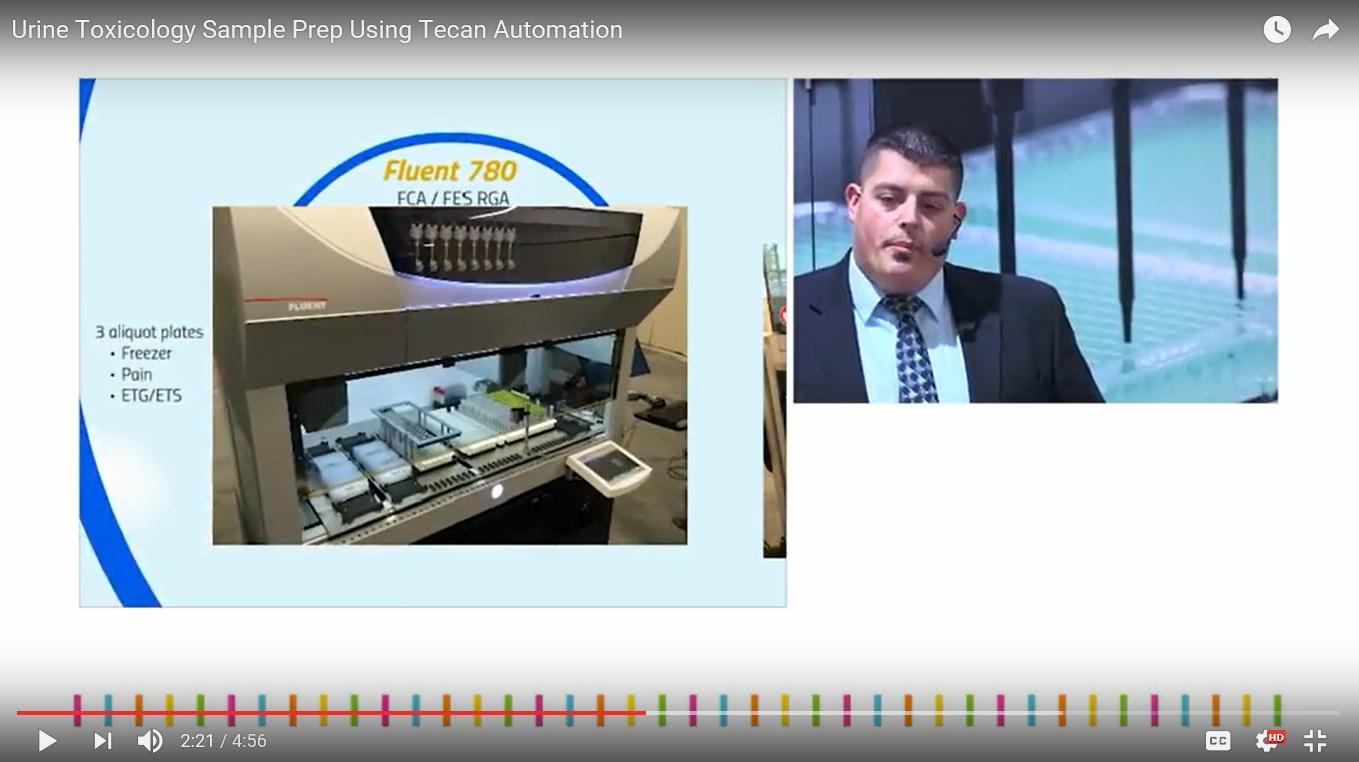 Urine toxicology automated sample preparation.
