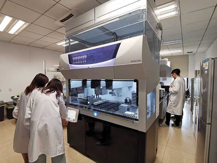 The Fluent Automation Workstation is at the heart of the lab's workflow