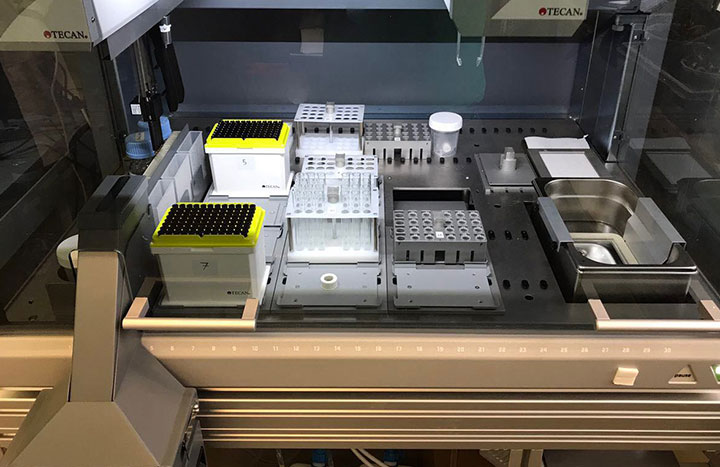 Automation of the process on the Freedom EVO has enhanced precision