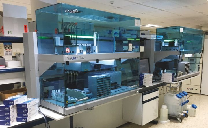The Freedom EVO-based VirClia Plus system offers walkaway processing of 96 samples in three hours